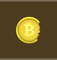 cracked bitcoin coin vector image vector image