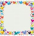 cute hearts border vector image vector image