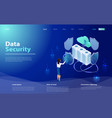 data security isometric concept vector image