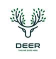 deer horn leaf logo vector image vector image