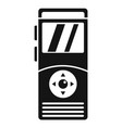 dictaphone icon simple style vector image vector image