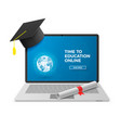 education online concept distant learning vector image vector image