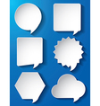 Empty speech bubbles paper vector image