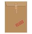 Envelope stamp top secret vector image vector image