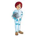 female racecar driver vector image