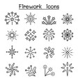 firework firecracker icon set in thin line style vector image vector image