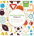 Flat Sport Exercise and Training Background vector image vector image