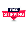 free shipping sign with arrow modern web banner vector image vector image