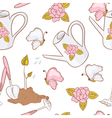 Gardening seamless pattern with butterfly vector image vector image