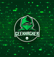 geek hacker logo template vector image