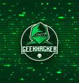 geek hacker logo template vector image vector image