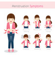 girl with menstruation symptoms vector image vector image