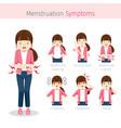 Girl with menstruation symptoms