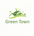 Green Town for real estate business vector image vector image