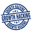 growth hacking blue round grunge stamp vector image vector image