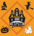 halloween seamless pattern 2 vector image