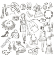hand drawn fashion vector image vector image