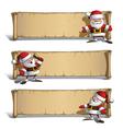 Happy Santas Papyrus Announcing Set vector image vector image