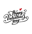 Happy Valentine s Day text vector image vector image