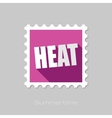 Heat flat stamp with long shadow vector image