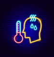 human high temperature neon sign vector image
