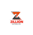 icon of letter z for company or brand vector image