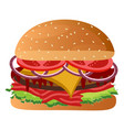 isolated burger icon vector image