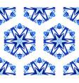 kaleidoscope white blue flower background vector image vector image
