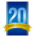 label for 20th anniversary vector image vector image