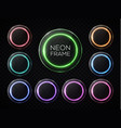 led lamp banners set colorful neon light circles vector image