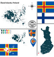 map of aland islands finland vector image vector image