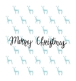 Merry Christmas lettering design Handmade vector image vector image