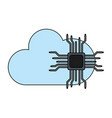 microchip and cloud computing vector image vector image