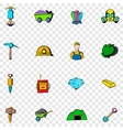 Mining set icons vector image vector image
