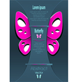Modern Background with decorate butterfly vector image vector image