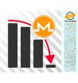 monero panic fall chart flat icon with bonus vector image vector image