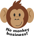 No Monkey Business vector image vector image