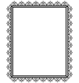 Openwork and black frame vector image vector image