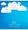 Paper cloud vector image vector image