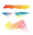 pencil color brush texture style vector image