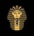 pharaoh logo artwork line gold black vector image