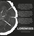 poster with tree rings design vector image