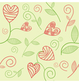 Romantic seamless background vector image vector image
