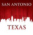 San Antonio Texas city skyline silhouette vector image vector image