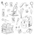 scientist traveler and explorer objects vector image
