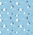 seamless christmas pattern with with fir trees vector image