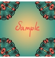 Seanless mandala banner with a lot of copyspace vector image vector image