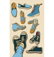 Set of Cartoon Shoes vector image vector image