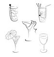 Set of cocktails and wines vector | Price: 1 Credit (USD $1)
