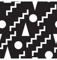 Set seamless black and white pattern vector image